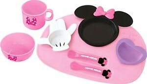 Disney Minnie Mouse icon Baby kids Tableware Dishes Plate set 8pcs