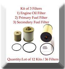 Lot 12 x Kit of 3 Oil & Fuel Filter Fits:F250 350 450 550 650 750 Excursion 6.0L
