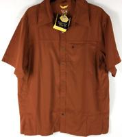 New Mountain Hardwear Turing Button Up Short Sleeve Shirt Men's size XL Rare
