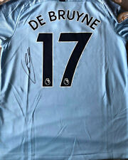 Kevin De Bruyne Hand Signed Manchester City Football Shirt 2018/19