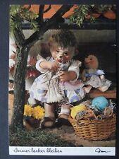 Mecki Hedgehog KNITTING WOOL THEME c1970/80's Postcard by Diehl Film 520