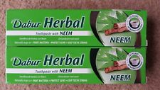 2 x DABUR NEEM HERBAL TOOTHPASTE 100ML NO ADDED FLUORIDE SUITABLE FOR VEGETERIAN