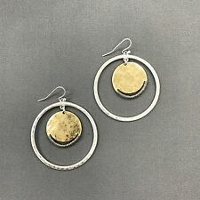 Fashionable Bohemian Style Open Silver Gold Circle Shaped Drop Dangle Earrings