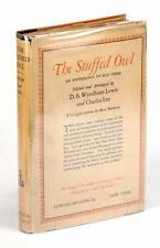 1st ED 1930 THE STUFFED OWL ANTHOLOGY D B WYNDHAM LEWIS MAX BEERBOHM HC w/DJ