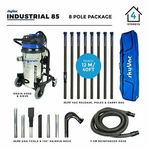 SkyVac® Industrial Gutter Cleaning Vacuum System - 12 metres (40ft) 110v or 240v