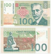 Spain - Catalonia Catalunya 100 Pessettes 2017 UNC SPECIMEN Test Note Banknote