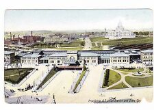 UNION STATION AND STATE CAPITAL---PROVIDENCE RHODE ISLAND--- POSTCARD