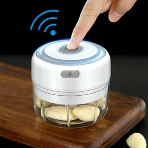 Elektrisch Zerkleinerer Küche Mini Knoblauchhacker Obst Zwiebelschneider 250ML