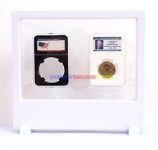 1 x New Display Stand Floating White For Banknotes NGC PCGS Slabs Coin Holder