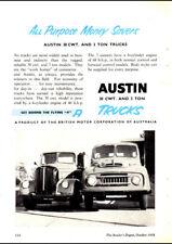 "1958 AUSTIN 30 CWT & 3 TON TRUCKS AD A3 CANVAS PRINT POSTER FRAMED 16.5""x11.7"""