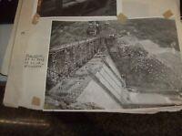"""foto originale anni '30 formato Cm. 18 x 13 """"DIGA DI PRIZZI IN COSTRUZIONE"""""""