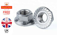 M4 M5 M6 M8 M10 M12 Flanged Hex Nuts (Serrated) A2 STAINLESS STEEL DIN 6923