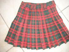 """Jupe tartan jupe plissée tartan femme mini jupe kilt longueur 9 /"""" 12/"""" uk 8-14"""