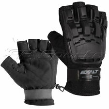 Paintball Exalt Hardshell Glove Black Half Finger L/Xl Large Extra Tactical