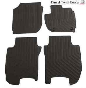 Genuine Honda Jazz Rubber Floor Mat Set Front & Rear Mats 07/2014-Current