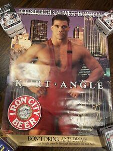 Kurt Angle Wrestling Olympic Super Rare Poster Iron City Beer