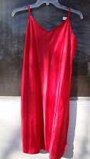 Vanity Fair Sexy Red Spaghetti Strap Nightgown size 38/20 $27.00