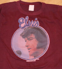 *1970's ELVIS PRESLEY* vtg rare concert tour t-shirt (S/M) 70's Rock Soul R+B