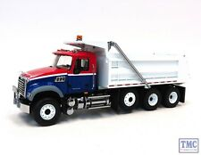 10-3994 First Gear 1:34 SCALE  Mack Granite Dump Truck Red, White & Blue