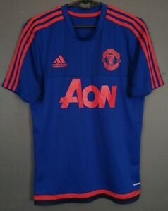 MENS FC MANCHESTER UNITED 2015/2016 TRAINING FOOTBALL SOCCER SHIRT JERSEY SIZE S
