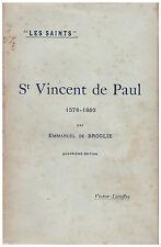 BROGLIE Emmanuel de - SAINT VINCENT DE PAUL - 1898