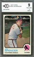 Jim Spencer Card 1973 Topps #319 California Angels BGS BCCG 9