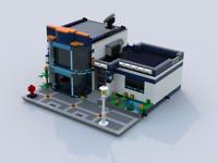 Lego modular instruction MOC : City Office