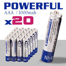 20x 1.2V 1000mAH AAA NI-MH Recharge Rechargeable Battery
