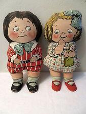 Vintage Pair Dean's Rag Knockabout Campbells Soup Kids Dolls Boy Girl