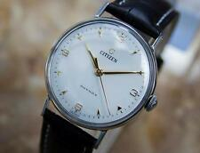 Citizen Phynox 1950s Manual Stainless Steel Japanese Made Mens Dress Watch Q54