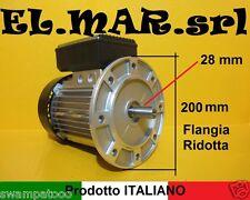 MOTORE ELETTRICO MONOFASE HP 3,5 GIRI 1400 mec100 Flangia B5 Ridotta Ponte Auto