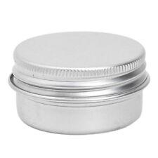 5x(1 x Empty Cosmetics Pot Lip Balm Tin Jar Container screw 50ml N3