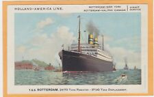 Advertising Postcard - Holland-American Line T.S.S. Rotterdam Ocean Liner