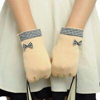 Gants hiver feminin beiges polaires vichy noir smartphone ecran tactile pinup