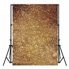 7x5ft Glitter Gold Sequin Photography Photo Backdrop Vinyl Studio Background