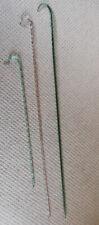 More details for victorian antique  glass walking sticks x 3