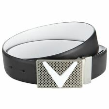 Callaway Chevron Golf Belt - Reversible Black and White Genuine Leather  size 38