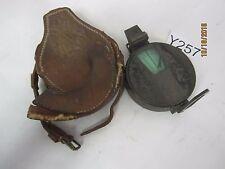 Antique/Vintage J Hicks Compass & Clinometer 8 Hatton Garden London Leather Case
