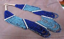 Zuni Made Beaded Multi- Strand Lapis & Turquoise Necklace - 23 strands JN0081