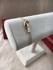 Cartier Double Panthere Bracelet Yellow Gold Onyx & Tsavorite