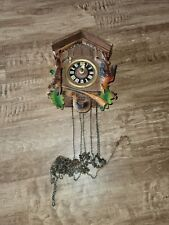 Vintage Cuckoo clock Merry Go Round Waltz for parts or repair bellows chime