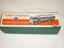 Dinky supertoys  Foden 14 Ton  tanker truck Mobilgas, in early box,