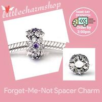 New Authentic Genuine PANDORA Forget-Me-Not Spacer Charm - 791834ACZ RETIRED