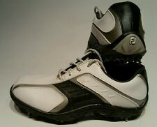 Fj FootJoy Golf Shoes 45017 Women's Sz 6M White Black and Silver