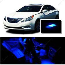 For Hyundai Sonata w/o sunroof 2011-14 Blue LED Interior Kit +Blue License Light