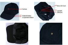 480P Mini Hat Video Camera Support 2-32GB TF Card Cap Spy Hidden Cam Recorder