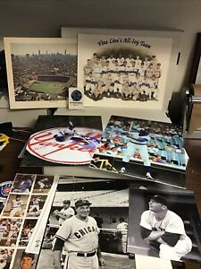 Lot of chicago cubs photos, prints mickey mantle (mears)