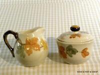 FRANCISCAN dinnerware OCTOBER pattern ~ Cream & Covered Sugar Bowl Set