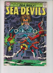 """Sea Devils 33 VG+ (4.5) 2/67 """"Trapped In The Underwater Lair of the Sea Wolf!"""""""