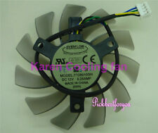 75mm 12V 0.25A 4pin T128010SH Fan For Video Card R6850 6850 HD6850 #M613 QL